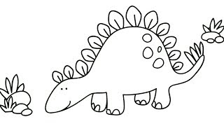 Coloring DINOSAURS with MAGIC WATER - Paint Using JUST WATER