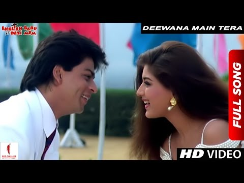 Deewana Main Tera Deewana | Kumar Sanu, Alka Yagnik | English Babu Desi Mem | Shah Rukh Khan