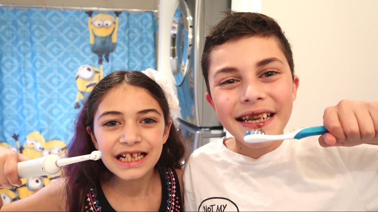 Heidi dan Zidane akan mengajari anak-anak cara menyikat gigi