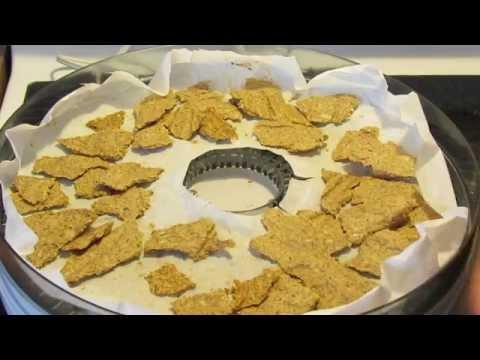 Raw Vegan Pumpkin Seed Flax Crackers (Gluten-Free/Salton Dehydrator)
