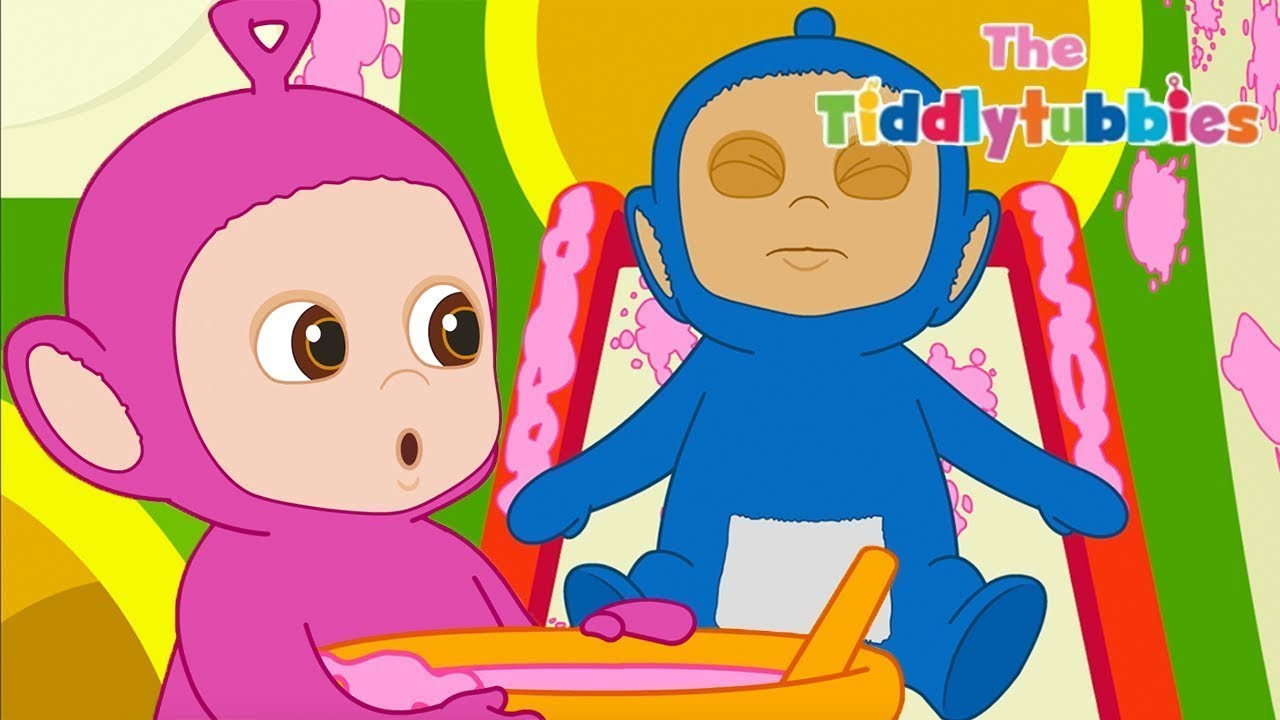 Tiddlytubbies 2D Series! ★ Episode 4: Sticky Tubby Custard ★ Teletubbies Babies ★ Cartoon for Kids