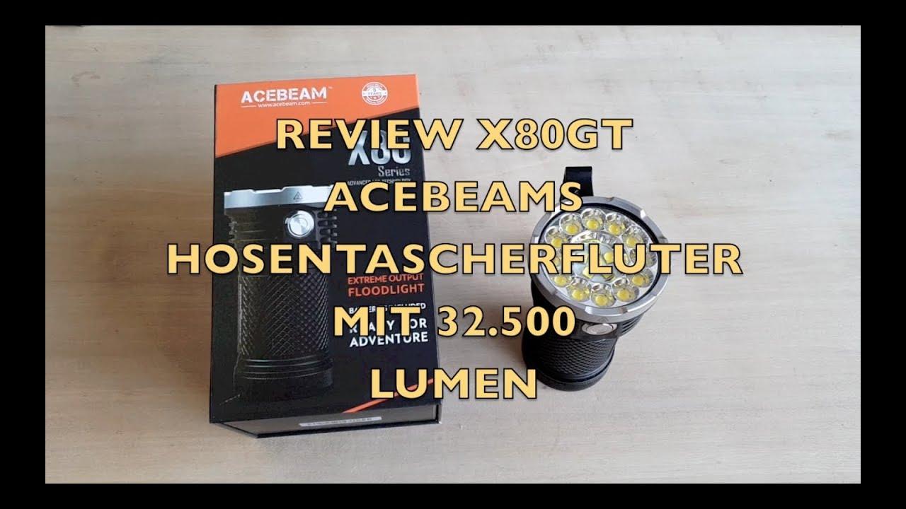 32.500 LUMEN ACEBEAM X80GT REVIEW - YouTube