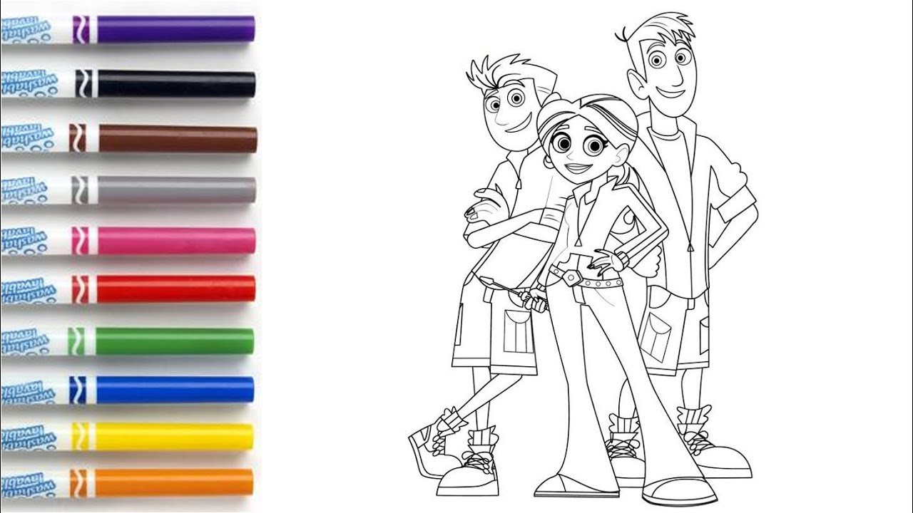 How to Color Wild Kratts - Coloring Book Page