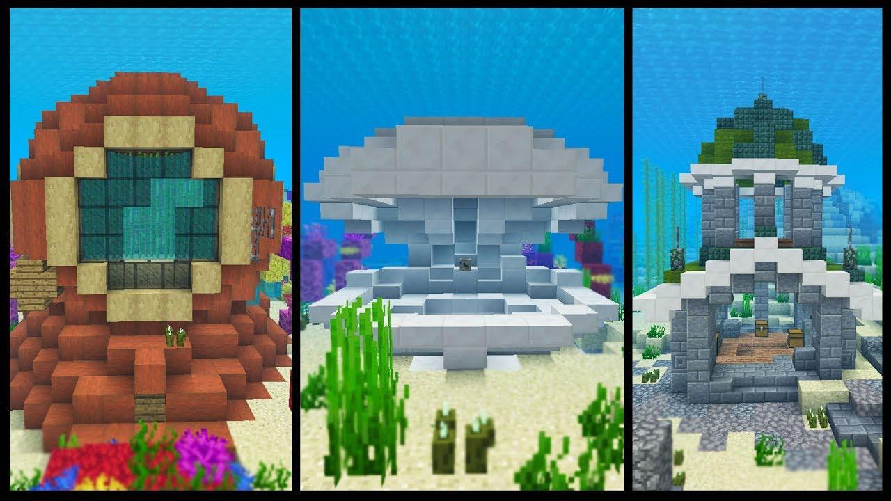 8 Underwater Minecraft House Ideas Youtube