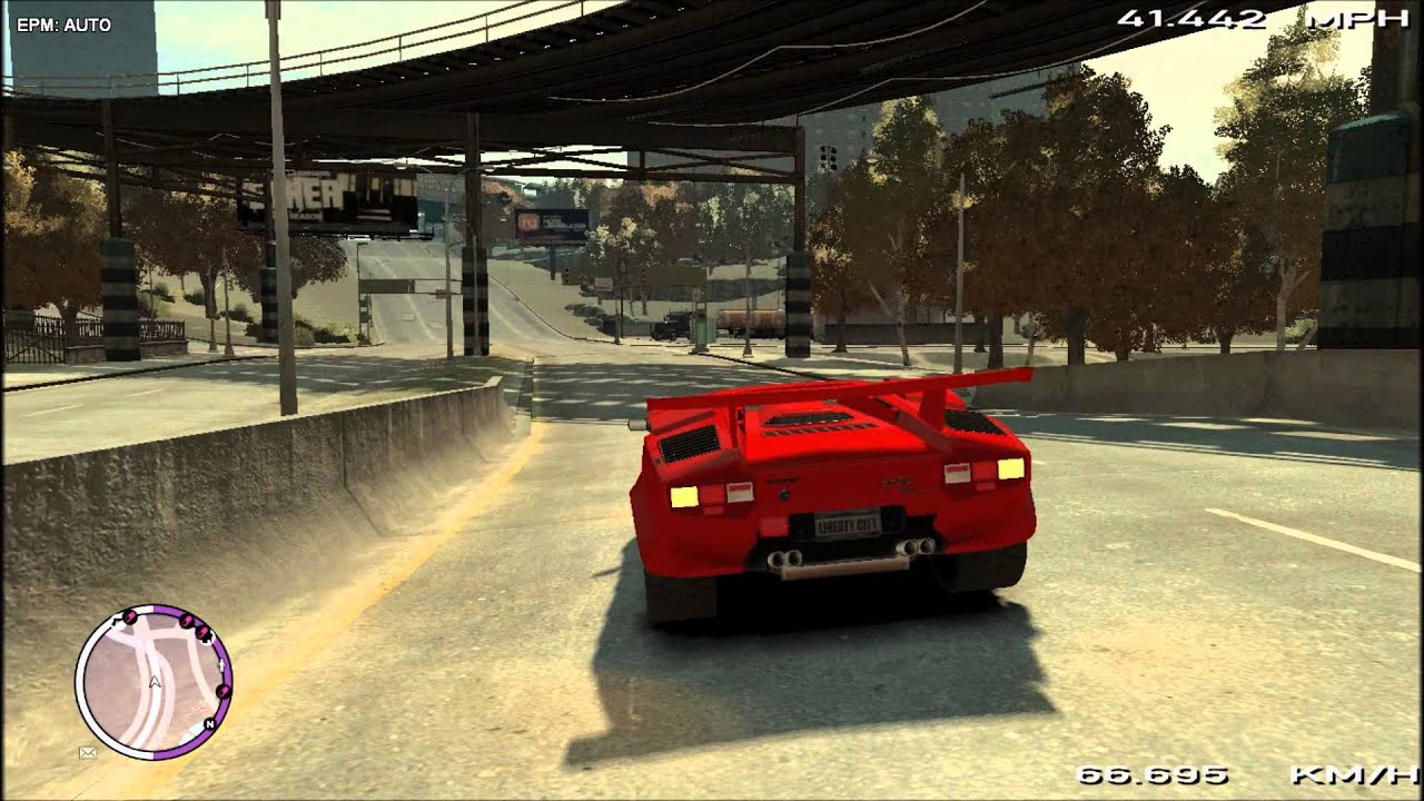 gta iv lamborghini countach 5000qv mod review how i drive. Black Bedroom Furniture Sets. Home Design Ideas