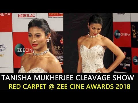 Tanisha Mukherjee Cleavage Show at Zee Cine Awards 2018 thumbnail
