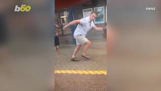 Funny Viral Videos Show Embarrassing Dad Running Next To Daughter's Train as she Heads to College