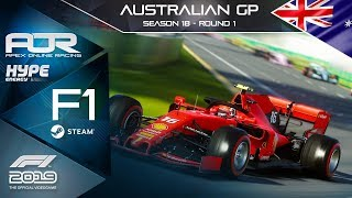 F1 2019 | AOR Hype Energy F1 League | PC | S18 | R1: Australian GP