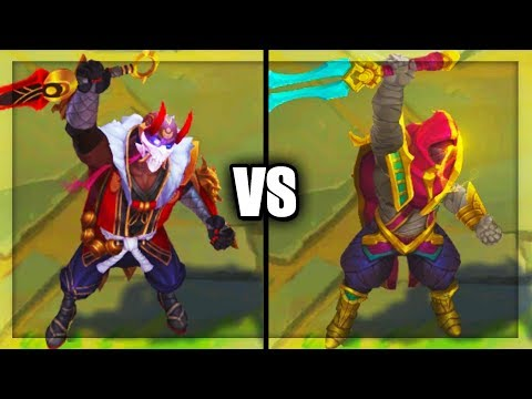 Blood Moon Pyke vs Sand Wraith Pyke Epic Skins Comparison (League of Legends)