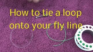 Tie a loop to the end of your fly line - Quick and easy!