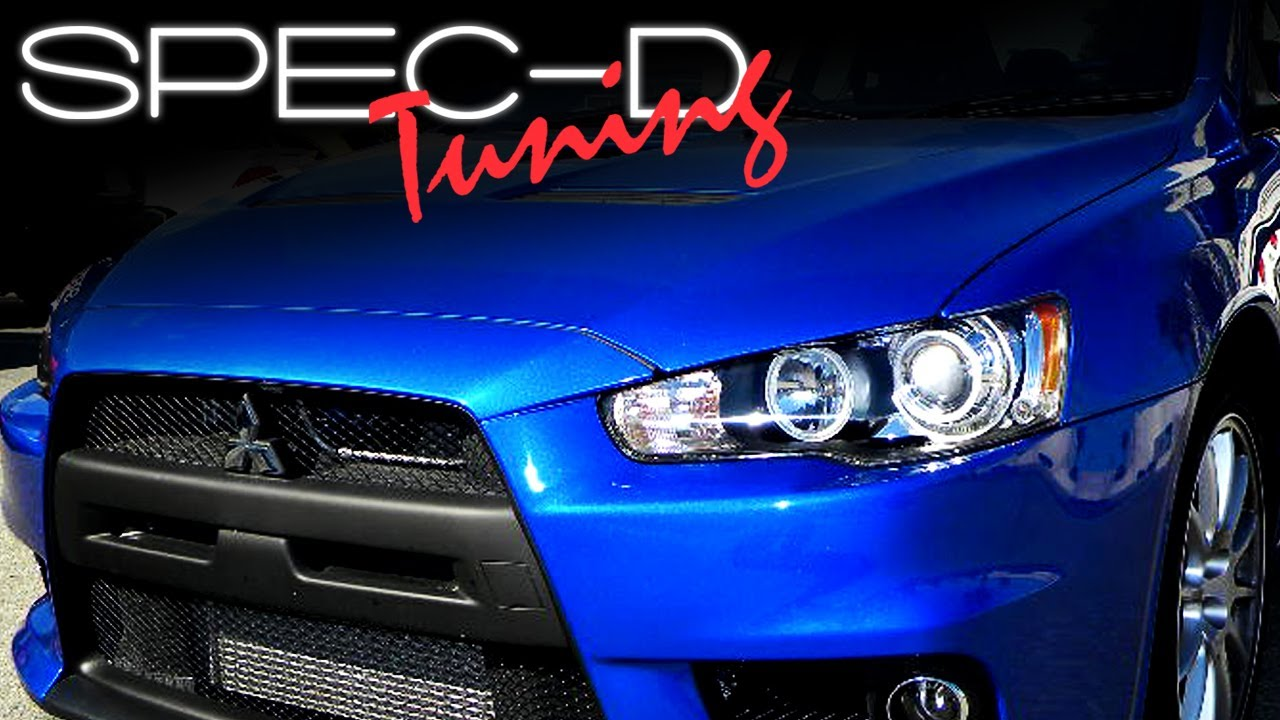 SPECDTUNING INSTALLATION VIDEO 20082010 MITSUBISHI LANCER