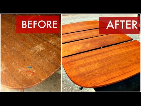 Refinish a Mid Century dining table