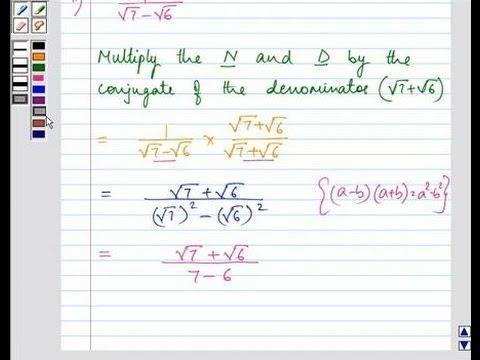 Example Rationalize The Denominator