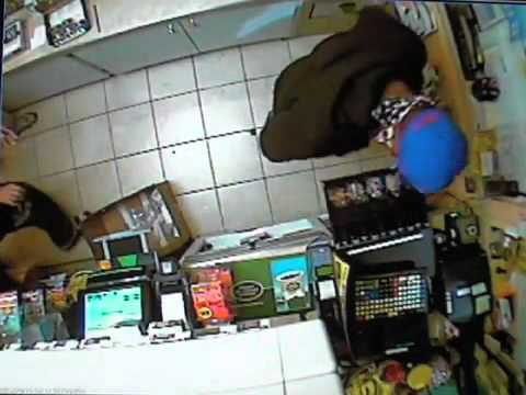 Surveillance video of violent Smithfield Township, Pa. gas station robbery