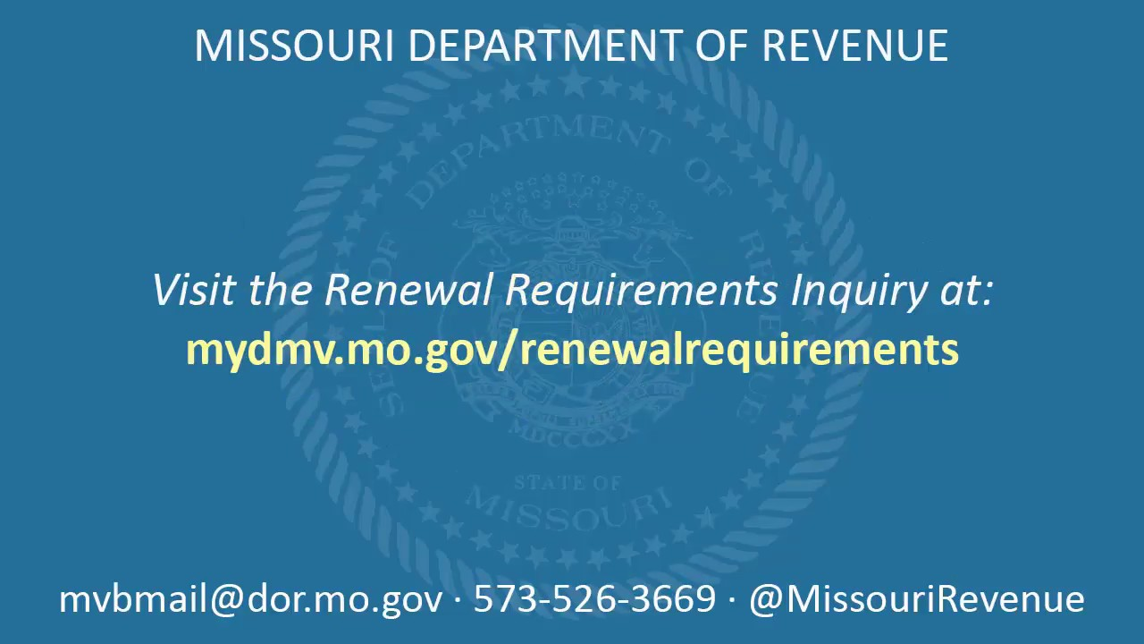 MO gov Driving & Vehicles - MO gov