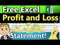 How To Track Business Expenses and Income in Excel! (Free Excel Profit and Loss Statement)