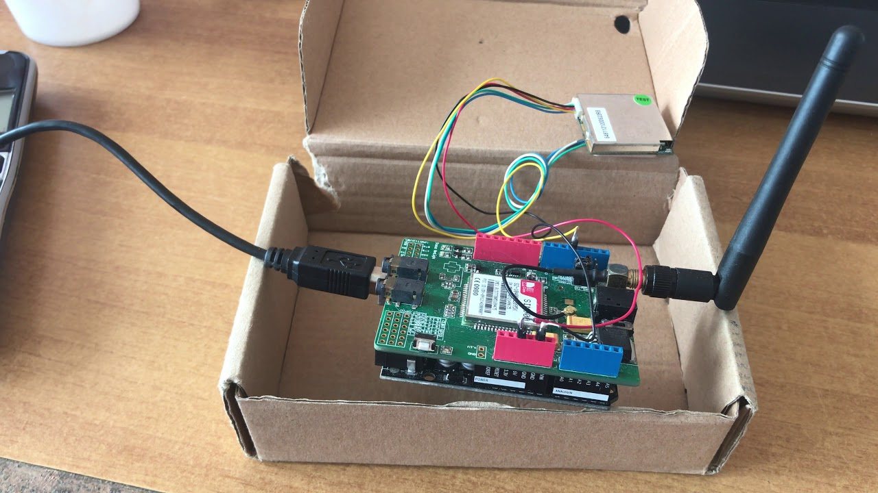 PMB-648 GPS receiver and SIM900 GSM shield with Arduino