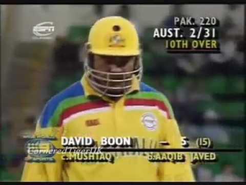 Aqib Javed Great Bowling Vs Australia 1992 WC