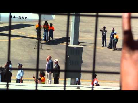 Solomon Islands 2012 - Prince William and Kate leave Henderson Airport Guadalcanal