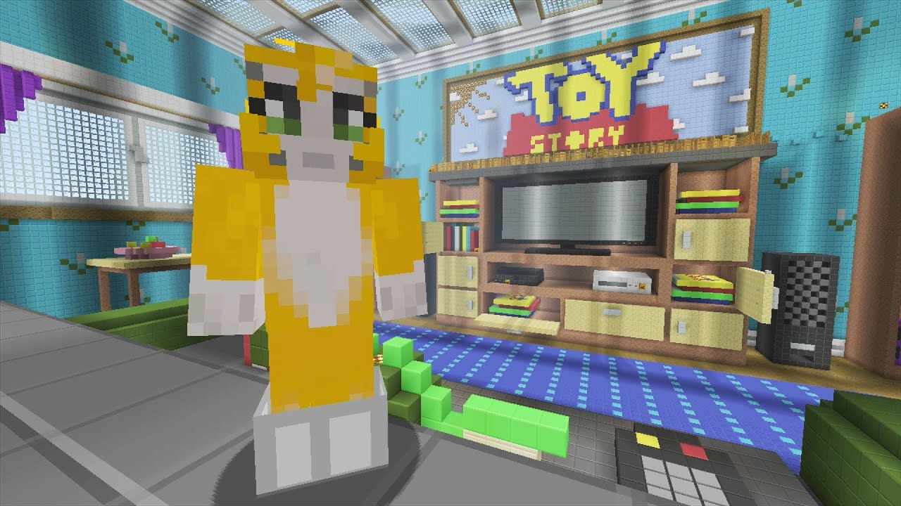 Minecraft xbox toy story 2 living room 2 youtube for Minecraft living room ideas xbox