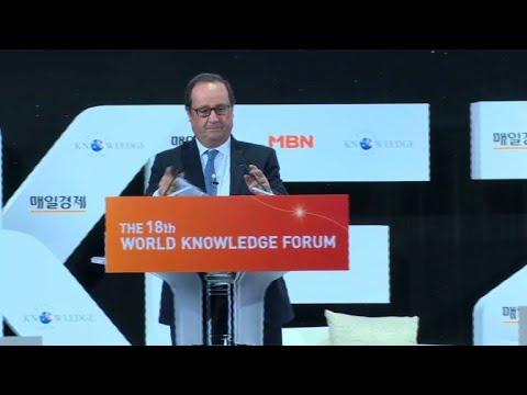 A Séoul, Hollande dénonce la