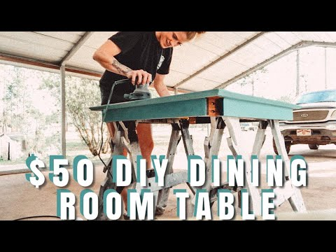 $50 DIY Dining Room Table
