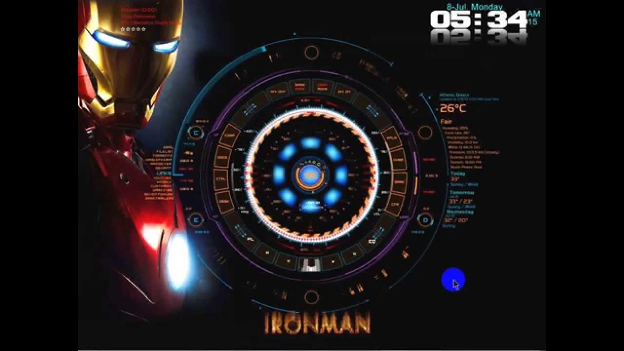 How To Make A Gif A Live Wallpaper Iphone My Customized Ironman Tech A Arc Reactor Desktop Mod Youtube