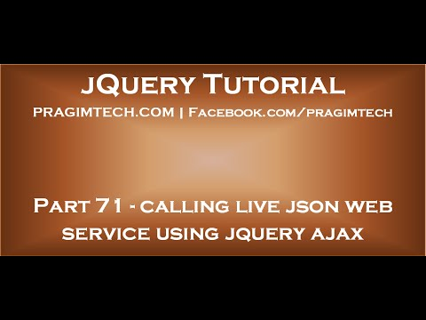 Calling live json web service using jquery ajax