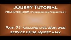 Calling live json web service using jquery ajax