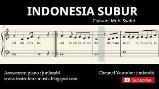 not balok indonesia subur - lagu wajib nasional - doremi / solmisasi