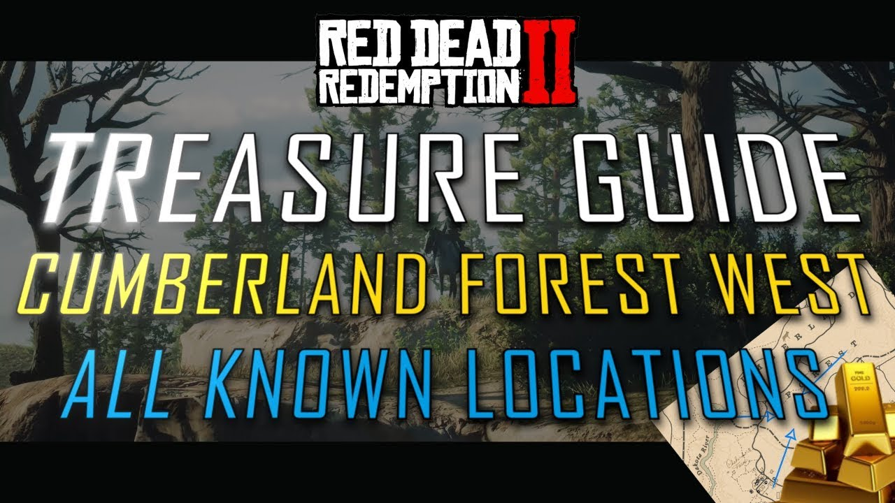 Red Dead 2 Online - Cumberland Forest West - All Treasure Map