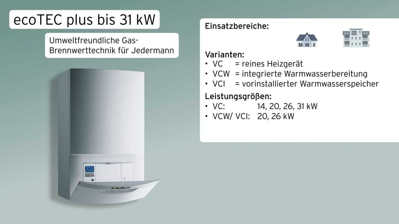Vaillant ecoTEC plus 26 kW Gastherme VC 266//5-5 E