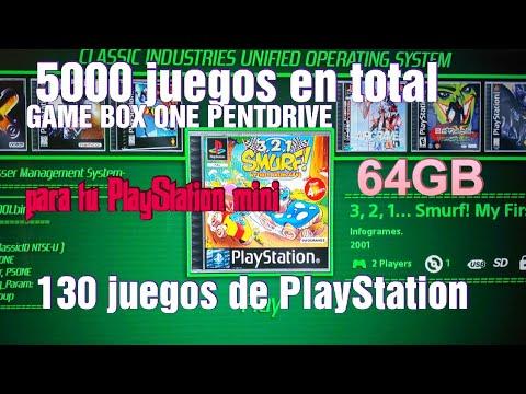 GAME BOX USB PENDRIVE 5000 JUEGOS-130 PARA TU PS MINI