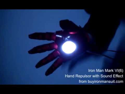 Iron Man Hand Repulsor with Sound Effect Prototype from buyironmansuit com