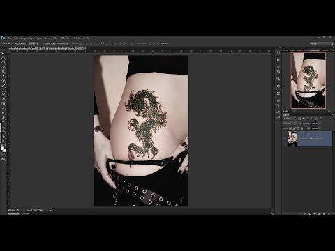 โฟโต้ชอป photoshop CS6 : 40 เทคนิคน่ารู้ - #16 สอนวิธีและเทคนิคการรีทัชลบรอยสัก