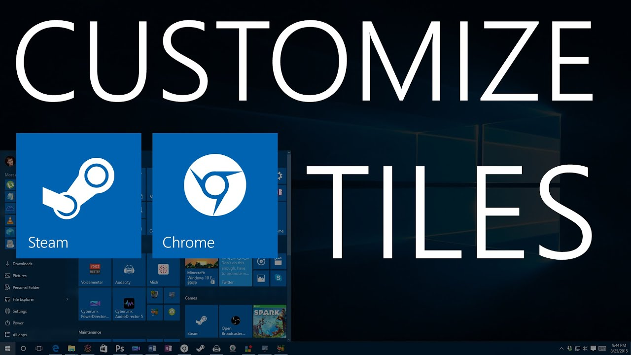 how to change icons in windows 10 start menu