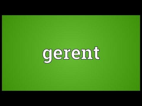 Header of gerent