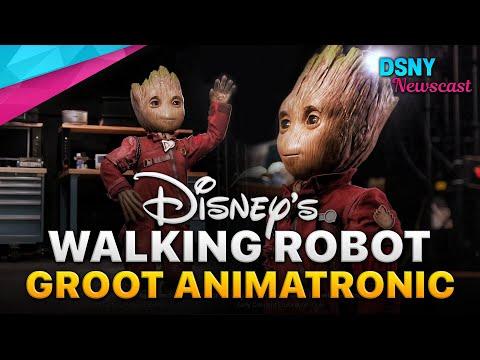 "FIRST LOOK at Disney's WALKING ROBOT ""BABY GROOT"" Animatronic"