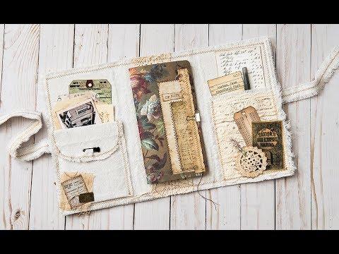 Shabby Traveler's Notebook Folio Thingamabob - let's make something!