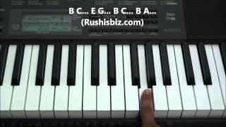 Teen Maar Theme Piano Notes - Tutorials