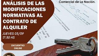 Análisis de las modificaciones normativas al contrato de alquiler