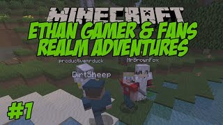 Ethan Gamer's Minecraft Realm with Fans #1