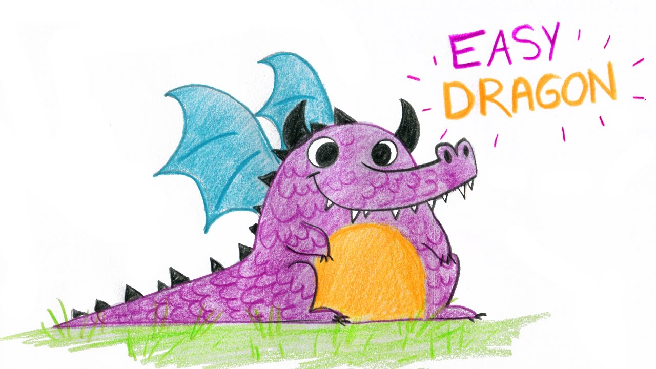 how to draw cute draganfly