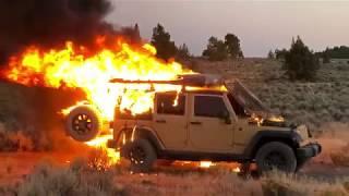 Jeep Wrangler JKU Rubicon Fire! - Footage and Update