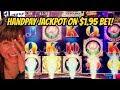 JACKPOT- HANDPAY-$1.95 BET ON LOTUS LAND SLOT-KONAMI