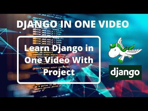 Django Tutorial In Hindi | Django In One Video With Project | Django Tutorial | Django Full Course