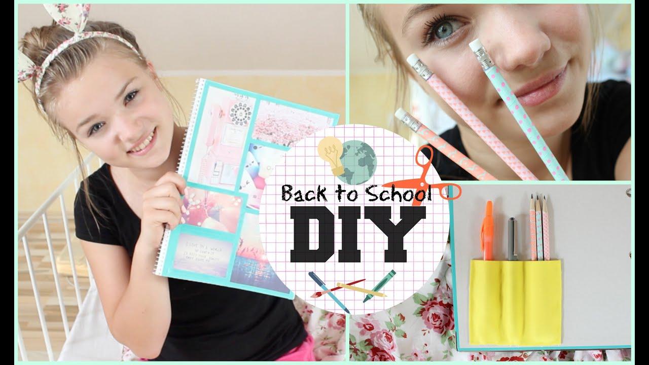 Diy Supplies Ideen Back To School 3 Youtube