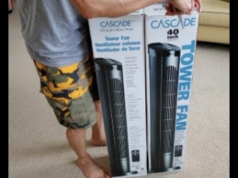 """Unboxing 40"""" CASCADE TOWER Fan + Install & How To Change Fuse!"""