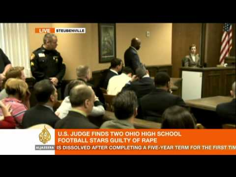 US teen football players found guilty of rape