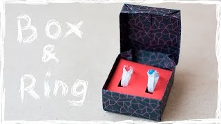 Paper Ring and paper Box for gift. Origami tutorial